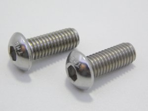 Parafuso Allen Cabeça Abaulada M4 x 8 Aço Inox (Embalagem 20 peças)