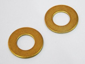 Arruela Lisa 3/8 (10,45 X 20,64 X 1,30) Latão - Embalagem 20 peças