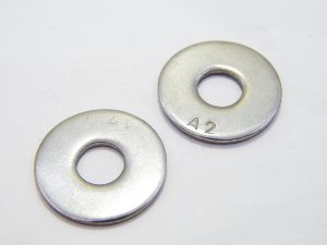 Arruela Lisa Aba Larga M12 Inox (Embalagem 10 peças)