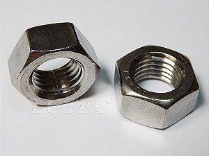 Porca Sextavada 1/8 UNC - CH 5/16 Aço Inox (Embalagem 50 peças)