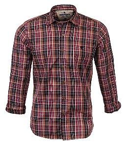 Camisa Masculina Made in Mato Xadrez Mix Canela