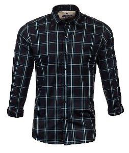Camisa Masculina Made in Mato Xadrez Mix Verde