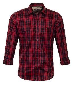 Camisa Masculina Made in Mato Xadrez Borgonha