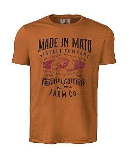 Camiseta Estampada Made in Mato Farm Mostarda