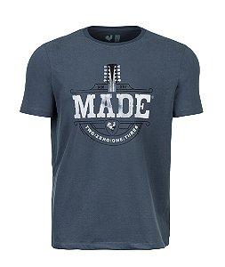 Camiseta Estampada Made in Mato Violão Cominho