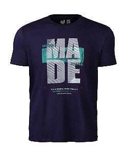 Camiseta Estampada Made in Mato Dark Marinho