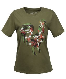 Tshirt Estampada Made in Mato Tropical Verde