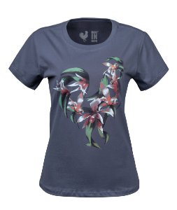 Tshirt Estampada Made in Mato Tropical Cinza Chia