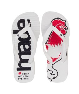 Chinelo Made in Mato Branco Rooster Red