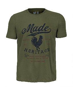 Camiseta Estampada Made in Mato Heritage Verde