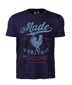 Camiseta Estampada Made in Mato Heritage Marinho
