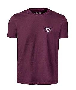 Camiseta Estampada Made in Mato MM Bordô