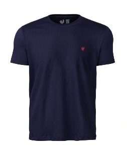 Camiseta Basic Marinho Careca