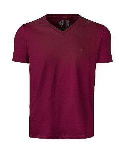 Camiseta Basic Bordo Gola V