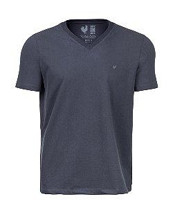 Camiseta Basic Chumbo Gola V
