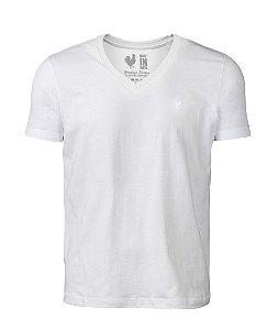 Camiseta Basic Branca Gola V