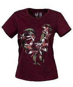 Camiseta Estampada Feminina Cravo