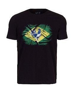 Camiseta Estampada Made in Mato Brasil Preto