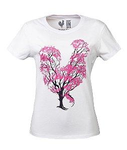 Tshirt Estampada Made in Mato Flor de Algodão Branco