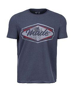 Camiseta Estampada Made in Mato Classic Logo Chumbo