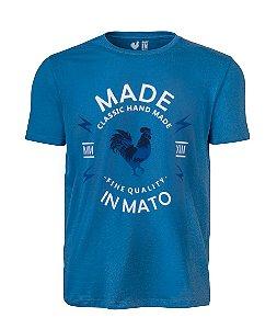 Camiseta Estampada Made in Mato Classic Azul