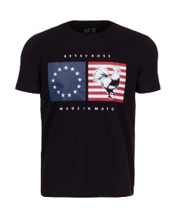 Camiseta Estampada Made in Mato EUA Preto