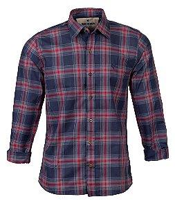 Camisa Masculina Made in Mato Xadrez Petróleo