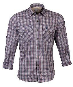 Camisa Masculina Made in Mato Xadrez Verde Claro