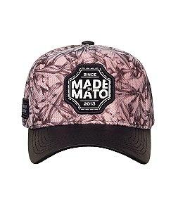 Boné Made in Mato Flower Head  com Aba de Couro