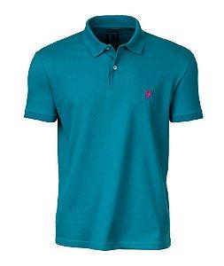 Camisa Polo Made in Mato Masculina Turquesa