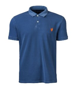 Camisa Polo Stone Made in Mato Masculina Azul