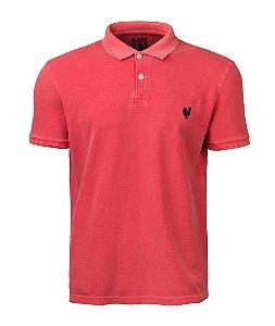 Camisa Polo Made in Mato Masculina Stone Vermelho