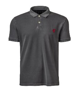 Camisa Polo Made in Mato Masculina Stone Preta