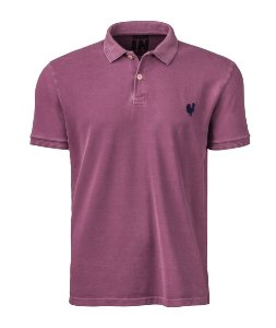 Camisa Polo Made in Mato Masculina Stone Vinho