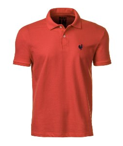 Camisa Polo Made in Mato Masculina Goiaba