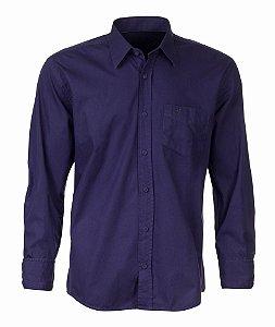Camisa Made in Mato Masculina com Bolso Marinho
