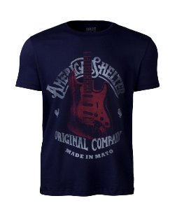 Camiseta Made in Mato Masculina American Shelter Marinho