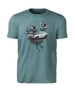 Camiseta Made in Mato Masculina Hot Rods Verde