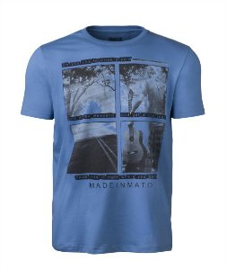 Camiseta Made in Mato Masculina Violeiro Azul