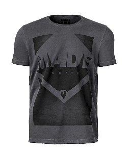 Camiseta Masculina Made in Mato  Stamp Stone Preta