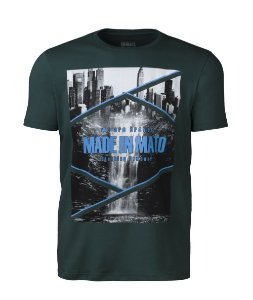 Camiseta Masculina Made in Mato City Verde