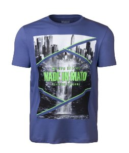 Camiseta Masculina Made in Mato City Azul Royal