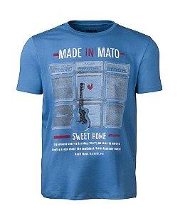 Camiseta Masculina Made in Mato Sweet Home Azul