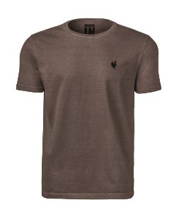 Camiseta Masculina Made in Mato Stone Caqui