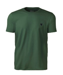 Camiseta Masculina Made in Mato Lisa Verde Floresta