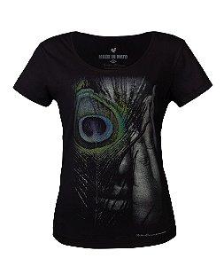 Camiseta Feminina Made in Mato Fotográfo Noilton Pereira Preta