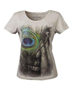 Camiseta Feminina Made in Mato Fotográfo Noilton Pereira Mescla Clara