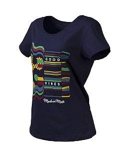 Camiseta Feminina Made in Mato Culture Azul Marinho