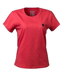 Camiseta Feminina Básica Goiaba