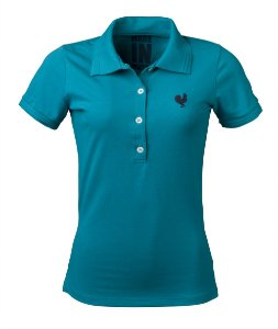 Camisa Polo Feminina Made in Mato Turquesa